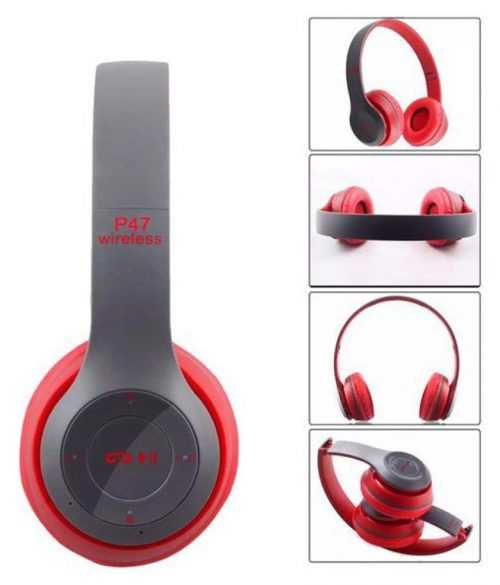 БЕЗЖИЧНИ СЛУШАЛКИ P47 WIRELESS, BLUETOOTH, FM, MP3, SD MEMORY 4