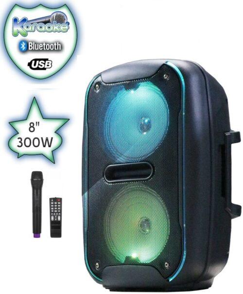 Преносима тонколона ЕК-6612 - с безжичен микрофон и акумулаторна батерия 3
