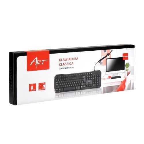 Клавиатура USB black ART AK-46U 3