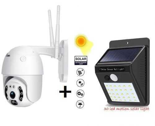 IP ВЪРТЯЩА БЕЗЖИЧНА КАМЕРА 2MPX + подарък Соларна лампа 3