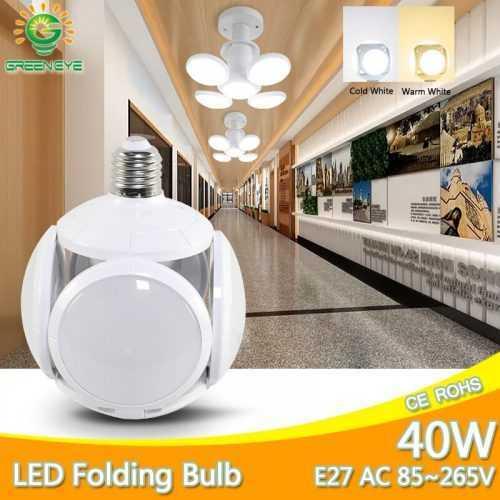 Сгъваема LED лампа с форма на футболна топка 40W 5