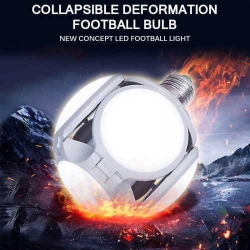 Сгъваема LED лампа с форма на футболна топка 40W 6