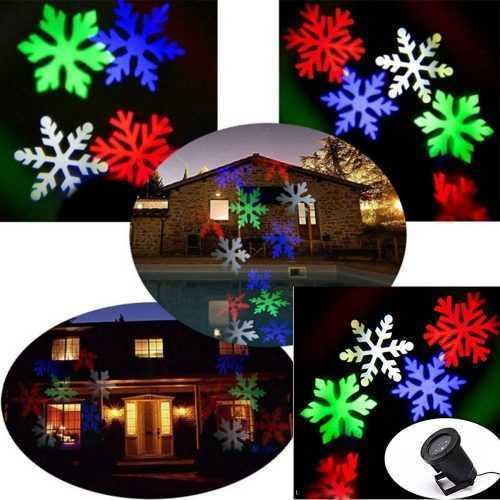 LED прожектор за фасада Снежинки в четири цвята 3