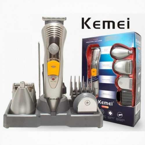 Безжична машинка за подстригване и оформяне Kemei 7 в 1 3