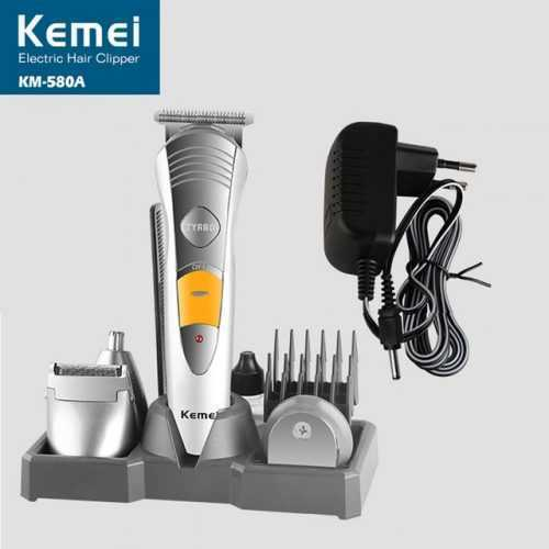 Безжична машинка за подстригване и оформяне Kemei 7 в 1 9