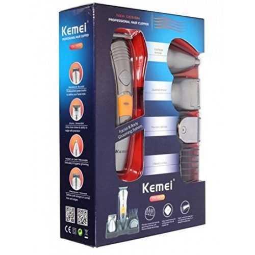 Безжична машинка за подстригване и оформяне Kemei 7 в 1 4