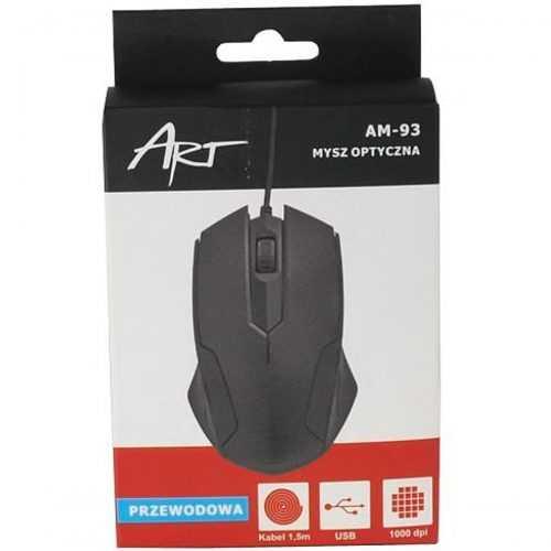 Оптична Мишка Art am-93, Черен 4