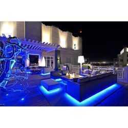 Комплект RGB LED лента 5 метра, диод 5050, с дистанционно и захранване 12