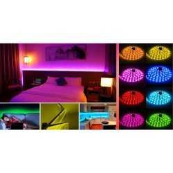 Комплект RGB LED лента 5 метра, диод 5050, с дистанционно и захранване 11