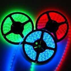 Комплект RGB LED лента 5 метра, диод 5050, с дистанционно и захранване 10