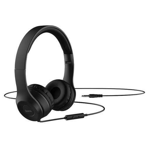Слушалки Hoco W21 с кабел, Тип On-ear, Сгъваеми, Hi-Fi Стерео, Черни и Бели 6