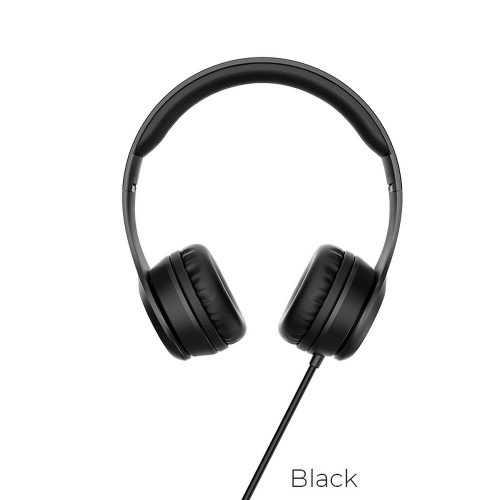 Слушалки Hoco W21 с кабел, Тип On-ear, Сгъваеми, Hi-Fi Стерео, Черни и Бели 10