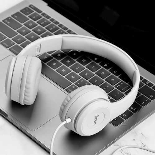 Слушалки Hoco W21 с кабел, Тип On-ear, Сгъваеми, Hi-Fi Стерео, Черни и Бели 5