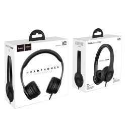 Слушалки Hoco W21 с кабел, Тип On-ear, Сгъваеми, Hi-Fi Стерео, Черни и Бели 11