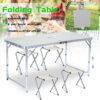 Сгъваема къмпинг маса с 4ри стола 2