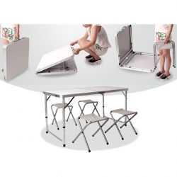 Сгъваема къмпинг маса с 4ри стола 5