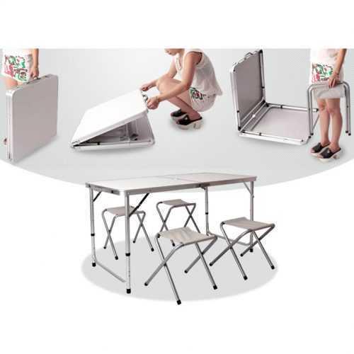 Сгъваема къмпинг маса с 4ри стола 4
