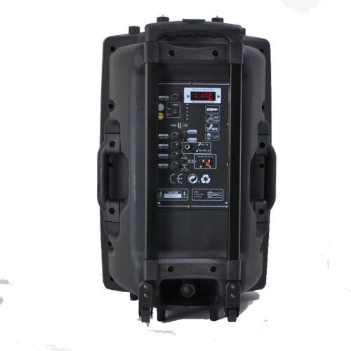 Караоке колона MBA F15W LUX с Bluetooth, SD карта, флашка, 2 броя безжични микрофони и цветомузика 4