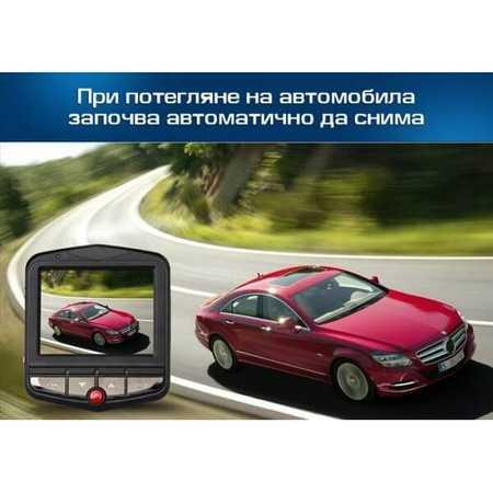 "Видeорегистратор Slim, записваща видеокамера за автомобил с LCD екран 2.4"", 1.3 мегапиксела,вграден микрофон 4"
