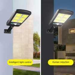 2бр. 120 COB LED Соларна лампа със сензор за движение 5