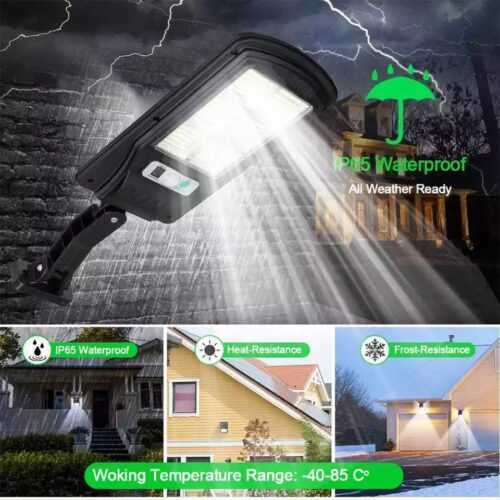 120 COB соларна лампа със стойка и дистанционно 4