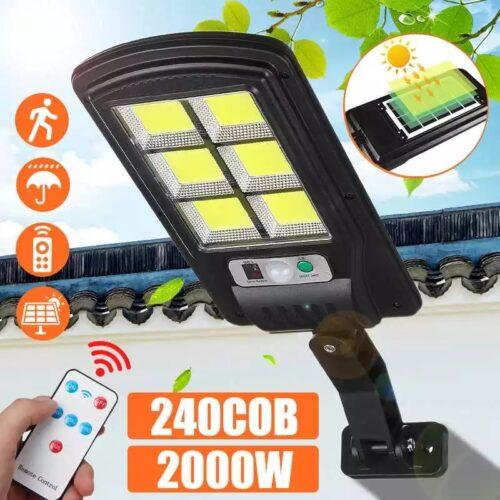 2бр. 120 COB LED Соларна лампа със сензор за движение 4