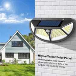 102 LED Соларна лампа 3 странна осветеност 10