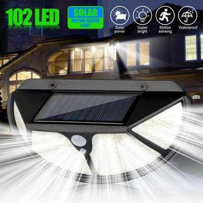 102 LED Соларна лампа 3 странна осветеност 4