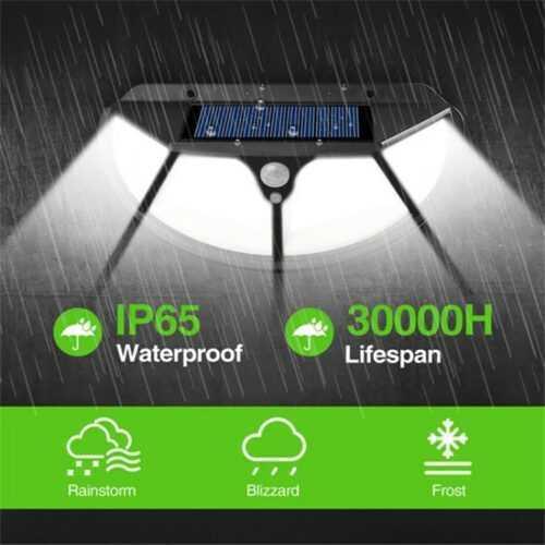 102 LED Соларна лампа 3 странна осветеност 7
