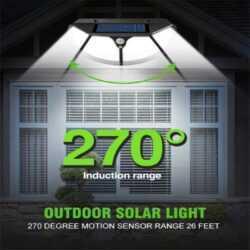 102 LED Соларна лампа 3 странна осветеност 11