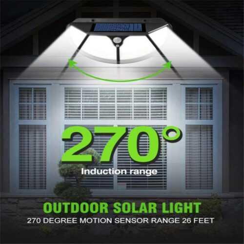 102 LED Соларна лампа 3 странна осветеност 6