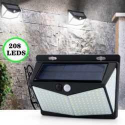 Соларна 208 LED водоустойчива градинска лампа 9