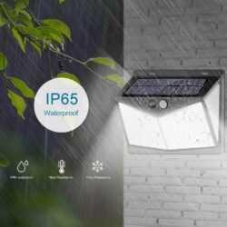 Соларна 208 LED водоустойчива градинска лампа 11
