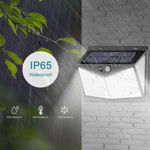 Соларна 208 LED водоустойчива градинска лампа 6