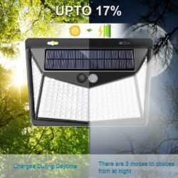 Соларна 208 LED водоустойчива градинска лампа 10