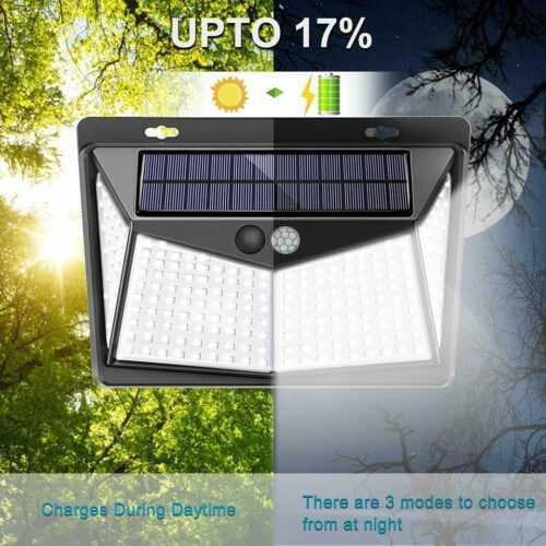 Соларна 208 LED водоустойчива градинска лампа 5