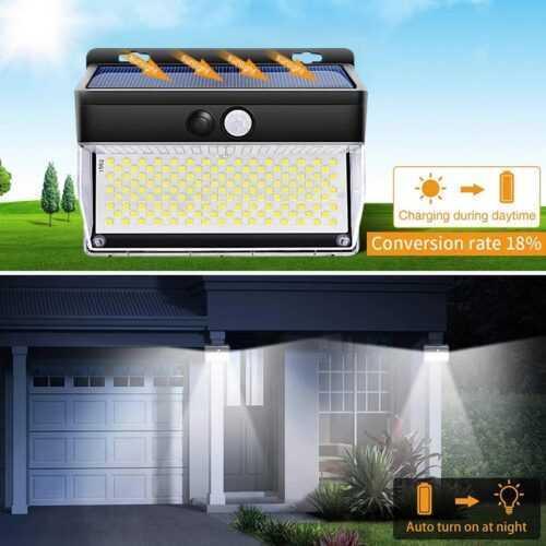 262 LED с PIR сензор за движение Градинска охранителна стенна лампа 4