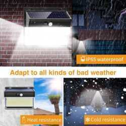 262 LED с PIR сензор за движение Градинска охранителна стенна лампа 8