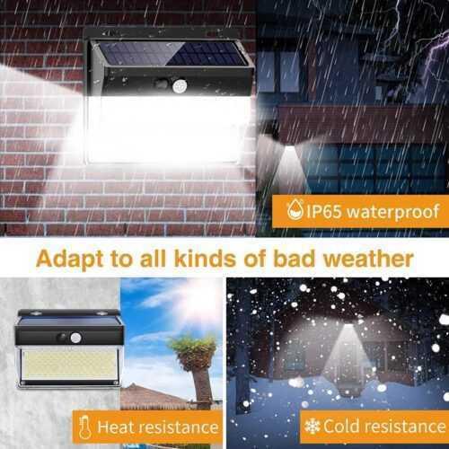 262 LED с PIR сензор за движение Градинска охранителна стенна лампа 5