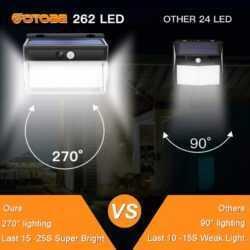 262 LED с PIR сензор за движение Градинска охранителна стенна лампа 9