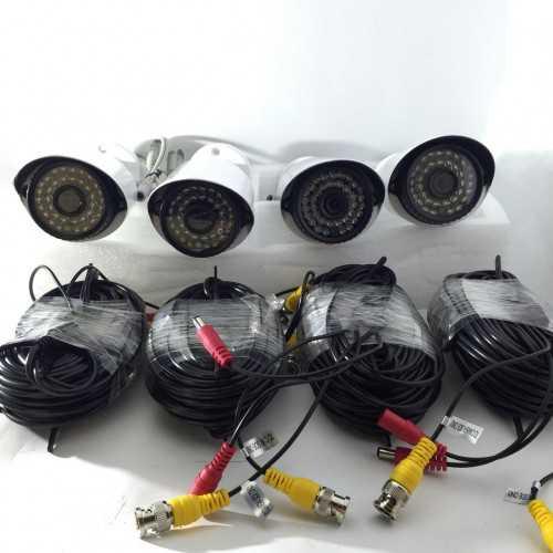 4 AHD камери с DVR пълен комплект за видеонаблюдение 4
