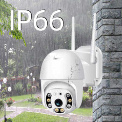 Безжична външна въртяща с 2 антени камера + подарък 32gb карта памет 9