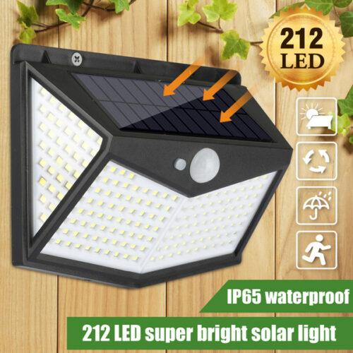 2 броя Соларна 208 LED водоустойчива градинска лампа 4