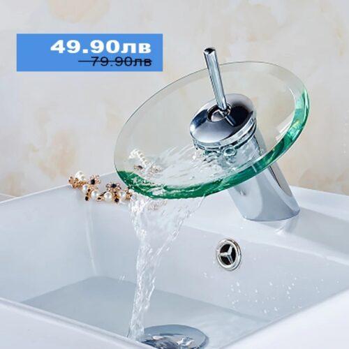 Стъклен смесител за баня 3