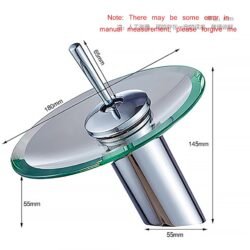 Стъклен смесител за баня 11