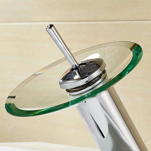 Стъклен смесител за баня 5