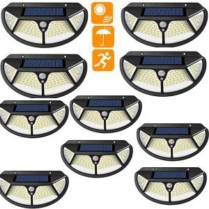 10 броя 102 LED Соларна лампа с 3 странна осветеност 3