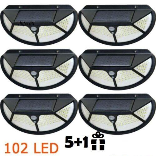 10 броя 102 LED Соларна лампа с 3 странна осветеност 4
