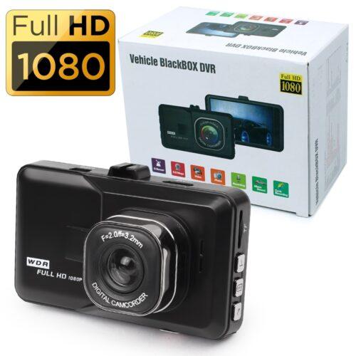 """Видеорегистратор BLACK BOX FULL HD, записваща Full HD видеокамера за кола с LCD екран 2.4"""", 3 мегапиксела,вграден микрофон 2"""