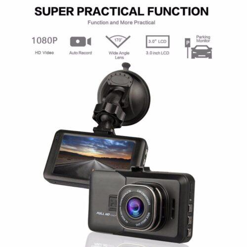 """Видеорегистратор BLACK BOX FULL HD, записваща Full HD видеокамера за кола с LCD екран 2.4"""", 3 мегапиксела,вграден микрофон 3"""